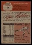 1953 Topps #9  Joe Collins  Back Thumbnail