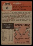 1953 Topps #6  Sam Jones  Back Thumbnail