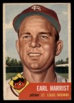 1953 Topps #65  Earl Harrist  Front Thumbnail