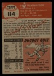 1953 Topps #114  Phil Rizzuto  Back Thumbnail