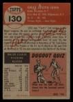 1953 Topps #130  Turk Lown  Back Thumbnail