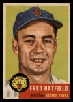 1953 Topps #163  Fred Hatfield  Front Thumbnail