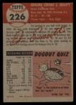 1953 Topps #226  Ed Erautt  Back Thumbnail