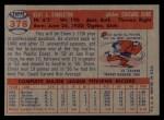 1957 Topps #378  Elmer Singleton  Back Thumbnail