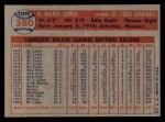 1957 Topps #380  Walker Cooper  Back Thumbnail