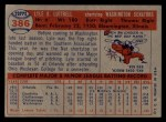 1957 Topps #386  Lyle Luttrell  Back Thumbnail