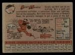 1958 Topps #336  Bert Hamric  Back Thumbnail
