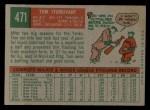 1959 Topps #471  Tom Sturdivant  Back Thumbnail