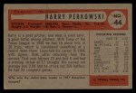 1954 Bowman #44  Harry Perkowski  Back Thumbnail