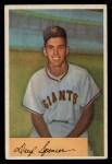 1954 Bowman #185 ERR Daryl Spencer  Front Thumbnail
