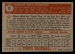 1952 Topps #23  Billy Goodman  Back Thumbnail