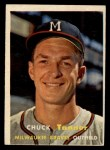 1957 Topps #392  Chuck Tanner  Front Thumbnail