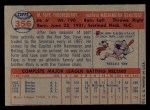 1957 Topps #356  Faye Throneberry  Back Thumbnail