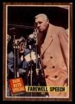 1962 Topps #144 A  -  Babe Ruth Farewell Speech Front Thumbnail