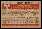 1953 Bowman #135  Bob Morgan  Back Thumbnail