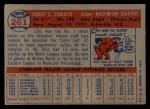 1957 Topps #261  Bob Chakales  Back Thumbnail