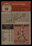 1953 Topps #19  Mel Parnell  Back Thumbnail