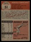 1953 Topps #51  Frank Campos  Back Thumbnail