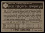 1952 Topps #32 BLK Eddie Robinson  Back Thumbnail