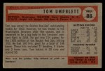 1954 Bowman #88  Tom Umphlett  Back Thumbnail