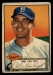 1952 Topps #53 RED Chris Van Cuyk  Front Thumbnail