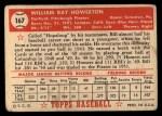1952 Topps #167 CRM Bill Howerton  Back Thumbnail
