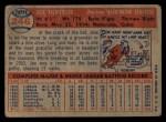 1957 Topps #246  Jose Valdivielso  Back Thumbnail