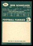 1960 Topps #76  Bob Schnelker  Back Thumbnail