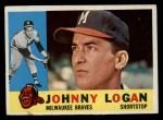 1960 Topps #205  Johnny Logan  Front Thumbnail