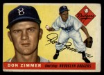 1955 Topps #92  Don Zimmer  Front Thumbnail