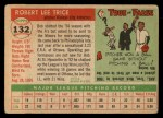 1955 Topps #132  Bob Trice  Back Thumbnail