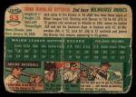 1954 Topps #53  Jack Dittmer  Back Thumbnail