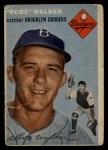 1954 Topps #153  Rube Walker  Front Thumbnail