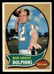 1970 Topps #10  Bob Griese  Front Thumbnail
