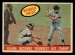 1959 Topps #463   -  Al Kaline Becomes Youngest Bat Champ Front Thumbnail