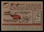 1958 Topps #368  Rocky Colavito  Back Thumbnail