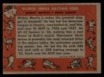 1958 Topps #418   -  Mickey Mantle / Hank Aaron World Series Batting Foes   Back Thumbnail
