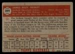 1952 Topps #399  Jim Fridley  Back Thumbnail