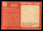 1958 Topps #29   Bears Team Back Thumbnail