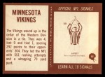 1967 Philadelphia #97   Minnesota Vikings Team Back Thumbnail