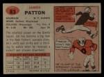 1957 Topps #83  Jim Patton  Back Thumbnail