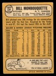 1968 Topps #234  Bill Monbouquette  Back Thumbnail