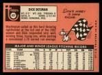 1969 Topps #607  Dick Bosman  Back Thumbnail