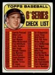 1969 Topps #504   -  Brooks Robinson Checklist 6 Front Thumbnail