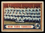 1957 Topps #97   Yankees Team Front Thumbnail