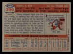1957 Topps #396  Casey Wise  Back Thumbnail