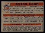 1957 Topps #198   Tigers Team Back Thumbnail