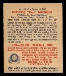1949 Bowman #40  Red Munger  Back Thumbnail