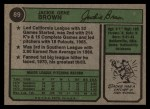 1974 Topps #89  Jackie Brown  Back Thumbnail
