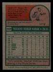 1975 Topps Mini #329  Ted Kubiak  Back Thumbnail
